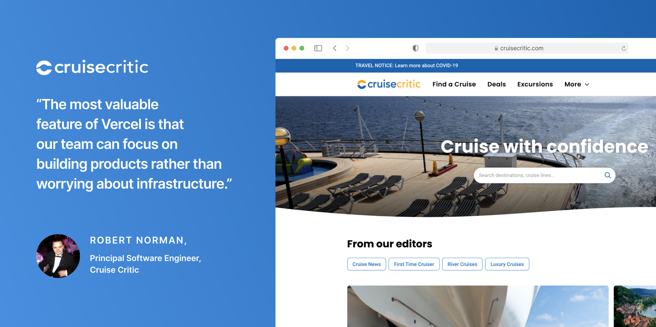 Cruise Critic Scales Web Experiences with Next.js and Vercel